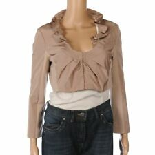 PINKO Jacket Pale Nude Beige Long Sleeved Cropped Bolero Size 42 / UK 10 FX 385