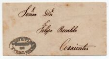 1858 ARGENTINA COVER, SUPERB OVAL CANCEL FROM CORRIENTES, HIGH VALUE