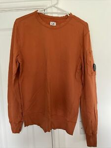 CP Company Sweatshirt. Burnt Orange. Worn. Medium. Lens Detail