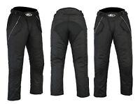 Waterproof Motorbike Motorcycle Trouser Pent Gears CE Armoured Lined Full Black