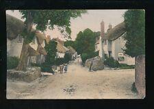 Devon THURLESTONE Village & local children Used 1907 PPC