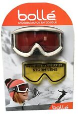 BOLLE Cylindrical Ski Snow Goggles Bonus Lemon Storm Lens & Bag New