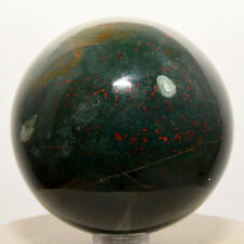 "2.4"" Bloodstone Sphere Red Green Heliotrope Agate Gemstone Crystal Ball - India"