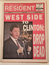 1992 Upper West Side RESIDENT Headline West Side to Clinton: Drop Dead