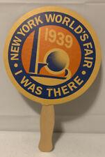 Vintage 1939 New York World's Fair Hand Held Paper Fan BB412