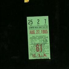8-27-1965 Los Angeles Dodgers @ Philadelphia Phillies Ticket - Don Drysdale Win
