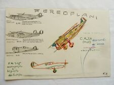 DIPINTO POW CAMPO INTERNATI ITALIANI AEREO REGIA AERONAUTICA GUERRA AFRICA WWII