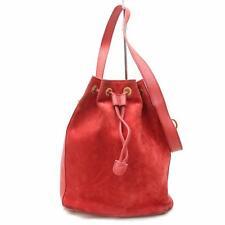 Auténtico Gucci Bolso de Mano Rojos de ante 302197