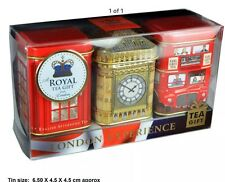 Ahmad TEA LONDRA INGLESE per Colazione, Tè Earl Grey, tè allentato Set regalo di latta