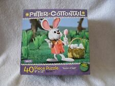Peter Cottontail Basket Of Eggs 40 Piece Puzzle