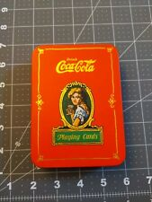 Vintage COCA-COLA  playing cards in COLLECTORS TIN