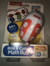 Fisher-Price Think & Learn Roll Count Math Bug 50+ Math Challenges Ages 3-6