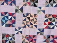 ANTIQUE 1920s ANTIQUE PINWHEEL QUILT HAND PIECED AND HAND QUILTED