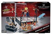 WWE NETWORK SPOTLIGHT RINGSIDE MAYHEM PLAYSET TRU EXCLUSIVE ANNOUNCER TABLE MITB