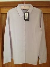 Sportscraft Check Stretch Purple & White long sleeve size 18