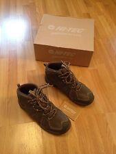 Ladies Hi-Tec MoraineWP Brown/Light Blue Waterproof Hiking Boots-Size UK 6,EU 39