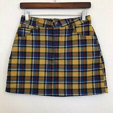 7041e4b6590d0 Womens Juniors Small S Forever 21 Plaid Flannel Mini Skirt