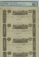 Cincinnati $5-$3-$2-$1 18__  PMG Gem 65 EPQ James Monroe Obsolete Sheet