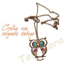 COLLAR con colgante BUHO necklace vintage