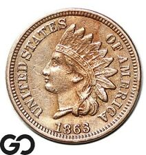 1863 Indian Head Cent Penny
