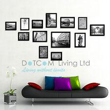 Large Multi Picture Photo Frames Wall Set 13pcs Black 125cm X 60cm Deco Home-3