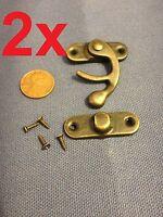 25 Sets S Loquet Crochet Charnière Petit Mini Antique boîte en bois de catch DECO A7