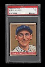 1933 Goudey BB #178 Jackie Warner Philadelphia Phillies PSA EX 5 !!