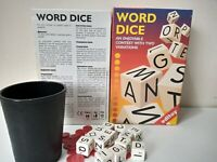 Editoy WORD DICE - Word Making Board Game Age 8+ - 2-6 Players - 2 Games in One
