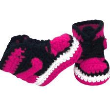 Baby Crochet Shoes Infant Sneakers Jordans Basketball Air Hot Pink Girl