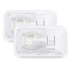 2x 12V LED RV Ceiling Dome Light RV Interior Light for Trailer Boat