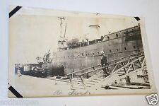 "Original 1930`s WWII Navy Ship Sailor Dry Dock 3"" x 5""  Black & White Photograph"