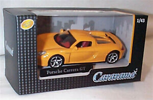 Porsche Carrera GT in Yellow 1-43 scale new in box