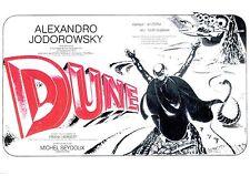 JODOROWSKY's DUNE Movie Poster Rare Promo Art