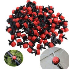 """100Pcs/Pack Irrigation Sprinklers Watering Drippers Emitter Drip System On 1/4"""""""