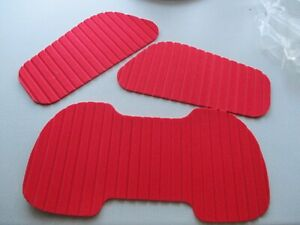 F 2 Footpads Deck Grip 3-tlg Rot Surfboard Wellenreiter Kiteboard Pad