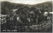 AK Oybin um 1950 - Blick von der Bastei - Totalansicht