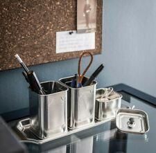 Ikea Anilinare 4-Piece Desk Organizer Set, Floral  Metal Tin Cans