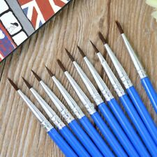 10Pcs Artist Paint Brush Nylon Hair Watercolor Acrylic Oil Painting Supply