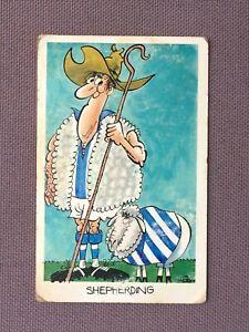No.38 Vintage SUNICRUST Footy Funnies WEG Card SHEPHERDING - North Melbourne