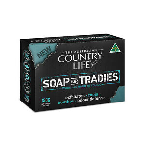3 x SOAP FOR TRADIES FROM AUSTRALIAN COUNTRY LIFE 150G BARS