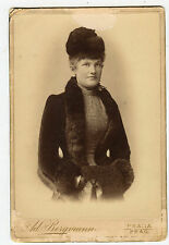 Cabinet Photo-Prague, Austria - HUCKLE Family Lady - Wearing Cape & Hat