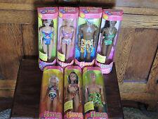 1999 Complete set of seven Hawaii Barbie Doll (mint) Barbie -Ken and friends