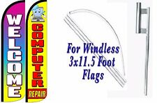Computer Repair Welcome Windless Swooper Flag With Complete Kit Pack of 2