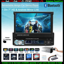 "7"" HD 1 Din Autoradio Lettore MP5 USB/SD/AUX/EQ/FM/TFT Touch Screen FM Bluetooth"