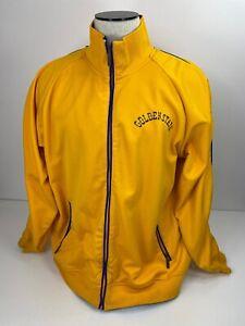 Mitchell & Ness Hardwood Classics Warmup Jacket Golden State Yellow Size XL