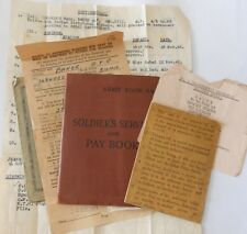 british army   paybook  grouping Anthony Baker ROYAL SIGNALS 8TH INF INDIAN DIV