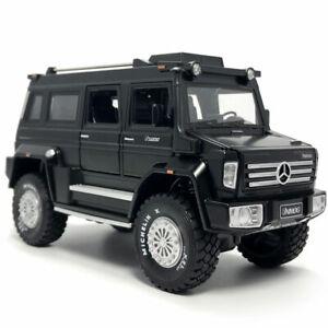 1:28 2019 Unimog U5000 SUV Model Car Diecast Toy Vehicle Sound & Light Black Kid