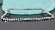 9K Gold Fine Diamond 72 Round 1.80ct Bezel Set Diamond 7inch Tennis Bracelet