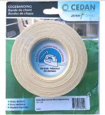 Cedan 10061S White Birch Iron-On Melamine Edgebanding 4 Pack 7/8 x 25'New Sealed