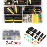 240pcs Car Waterproof Electrical Connectors Kit 1-6 Pin Kit Superseal AMP/Tyco